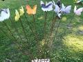 Fjärilar på lång pinne.